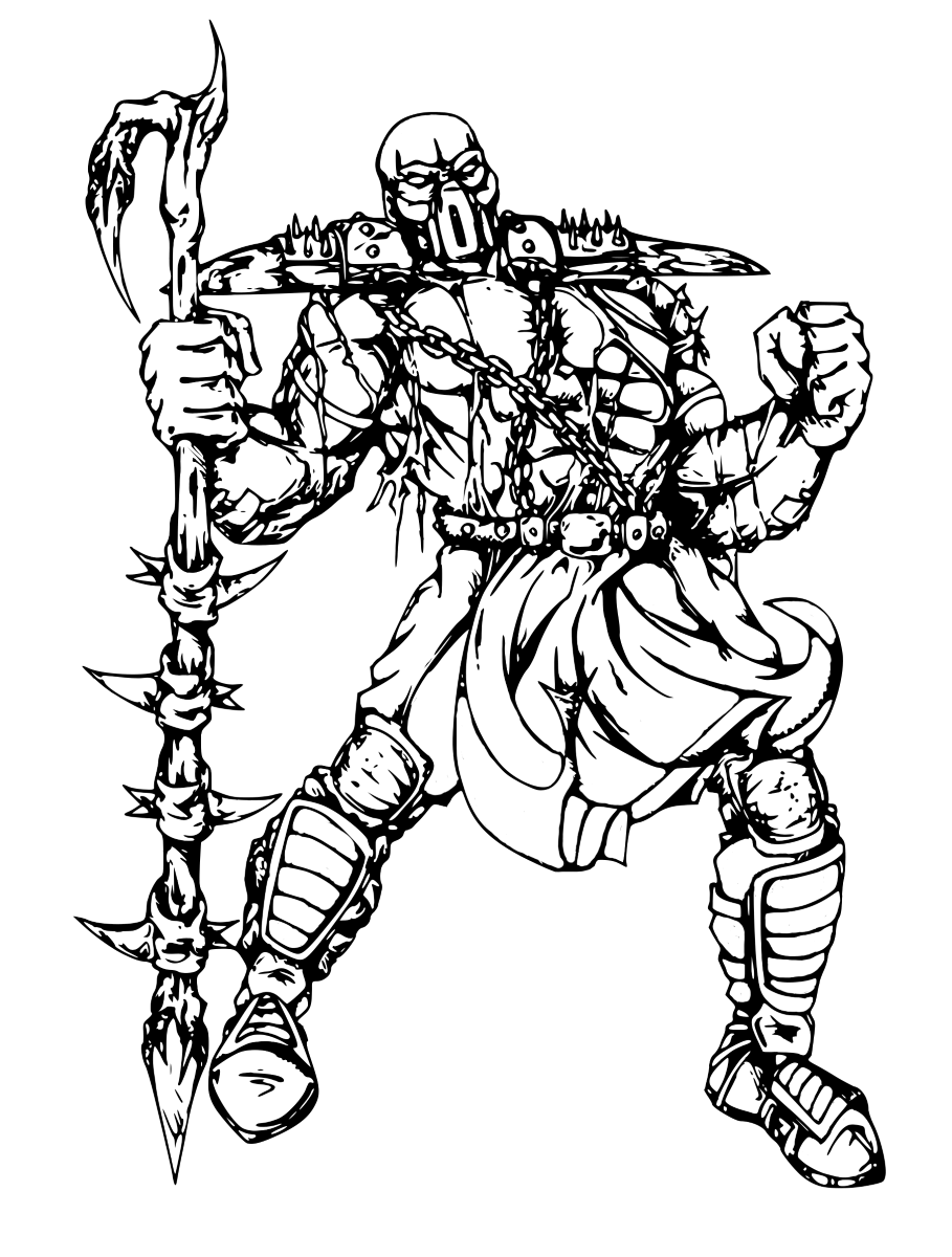 Mortal Kombat coloring pages to