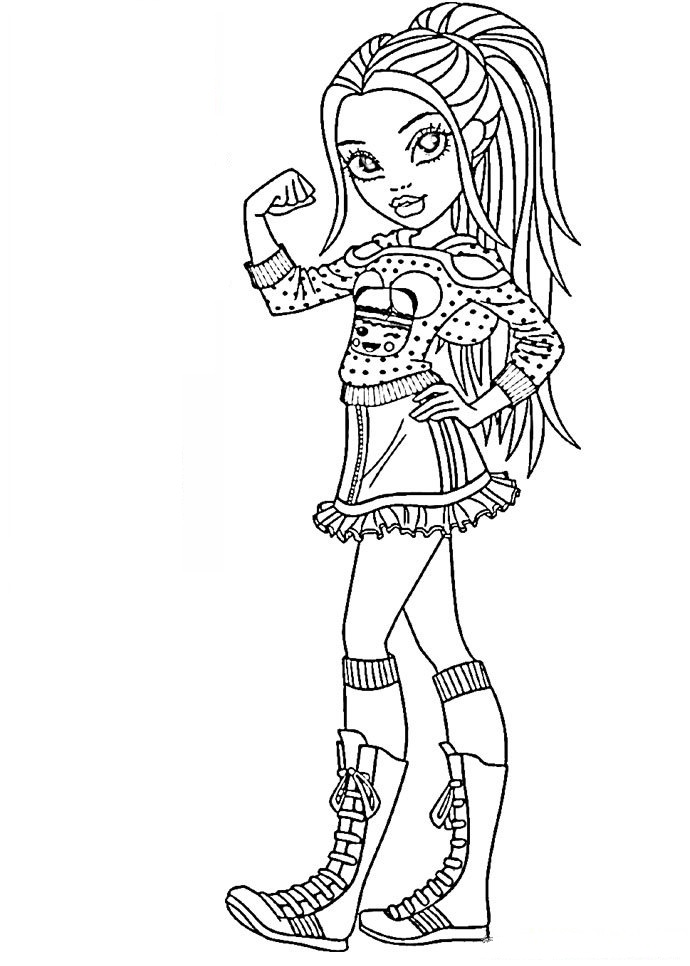Moxie coloring pages for girls
