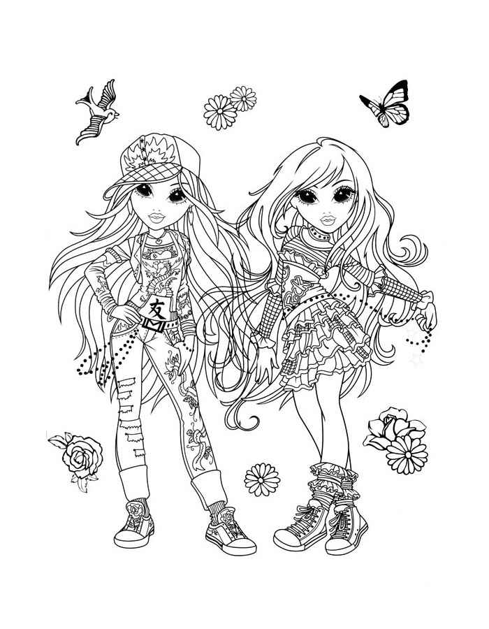 Free moxie girls coloring pages ~ Moxie coloring pages for girls to print for free
