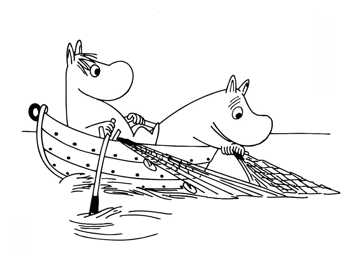 Moomin coloring pages to download