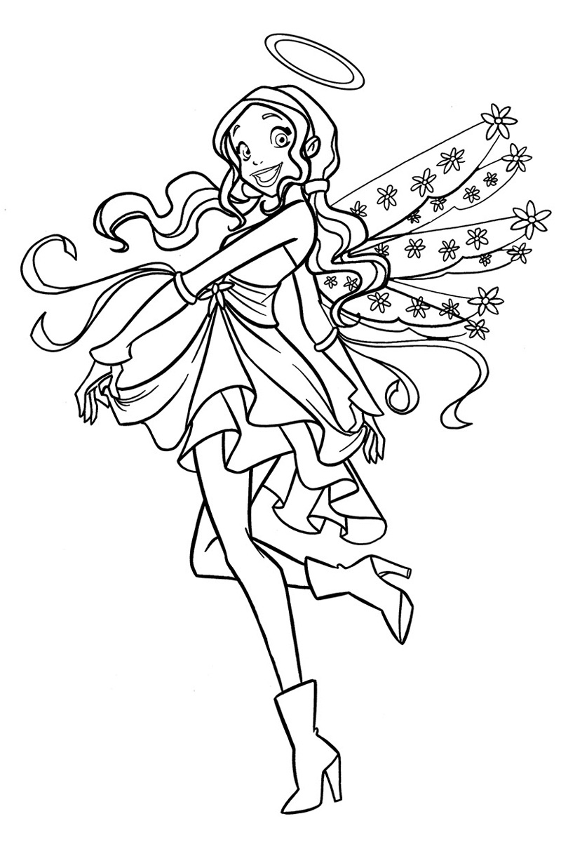 Angel 39 s friends coloring pages