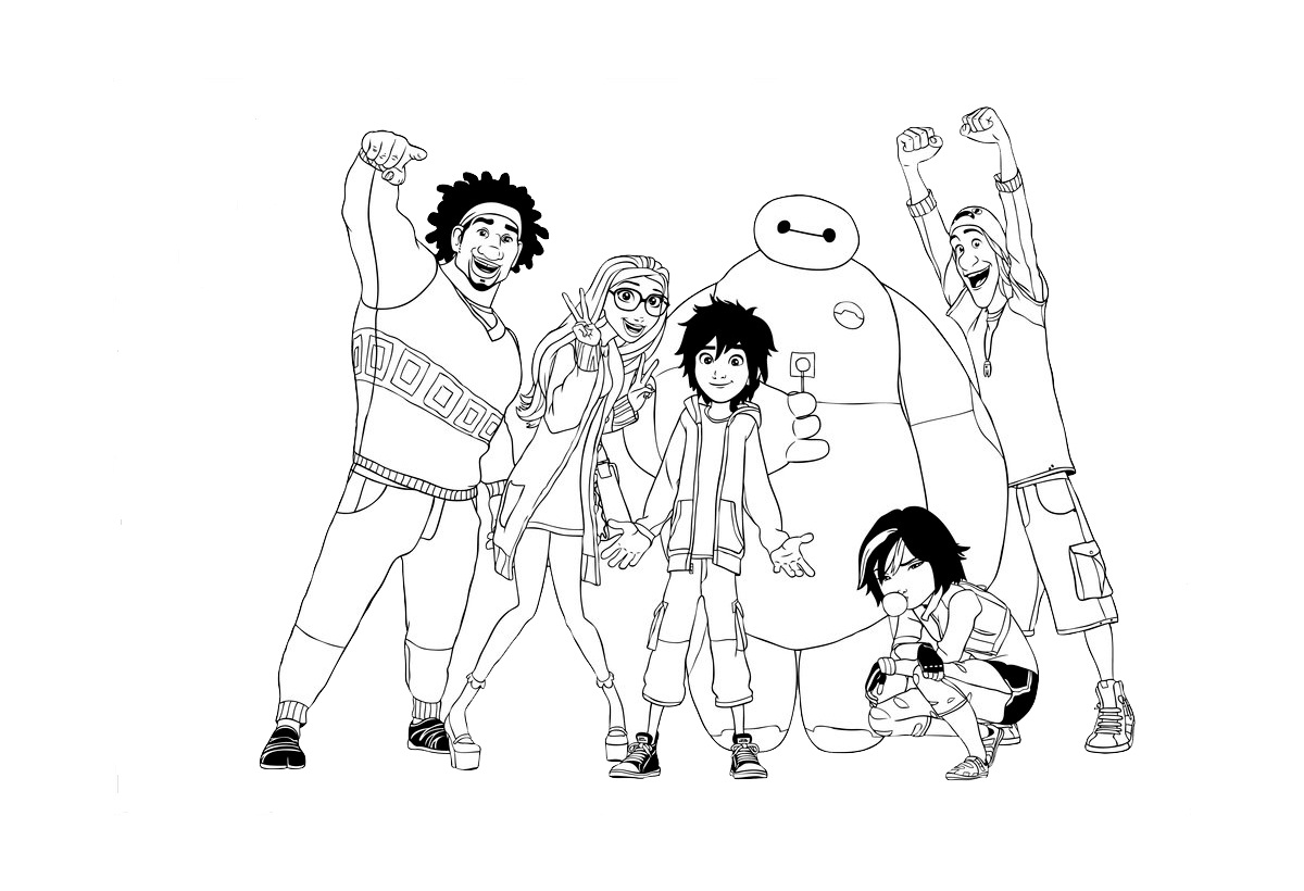 Big Hero 6 Coloring Pages To Print | Coloring Pages