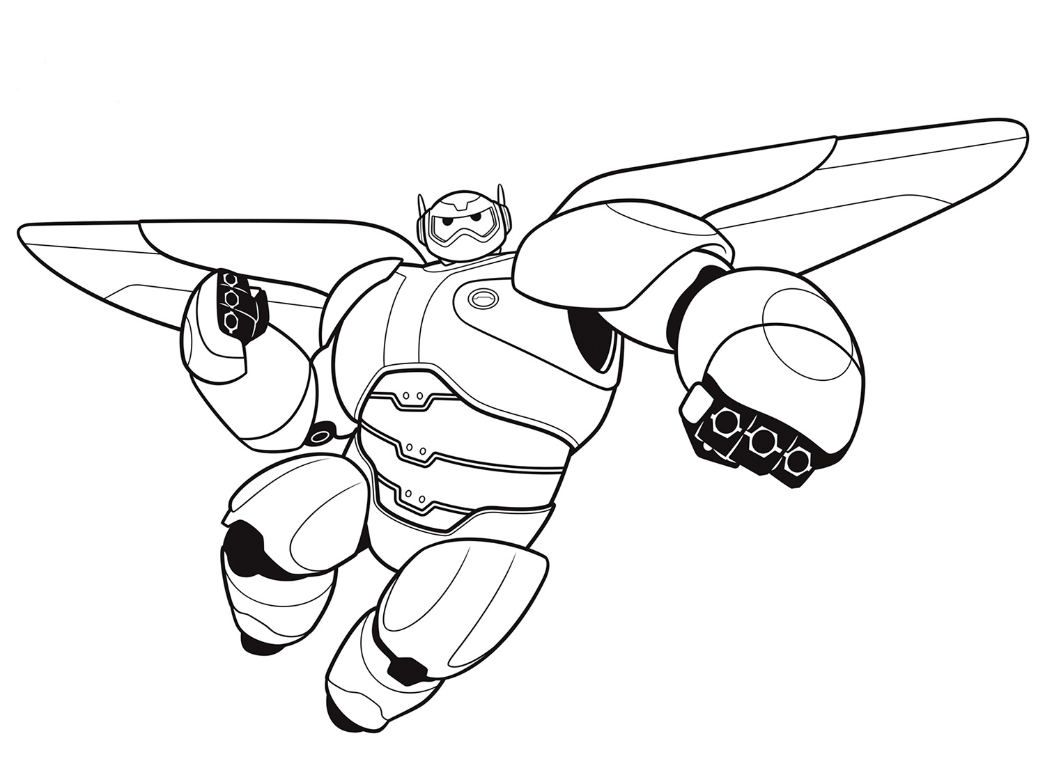 Big hero 6 coloring pages to download and print for free