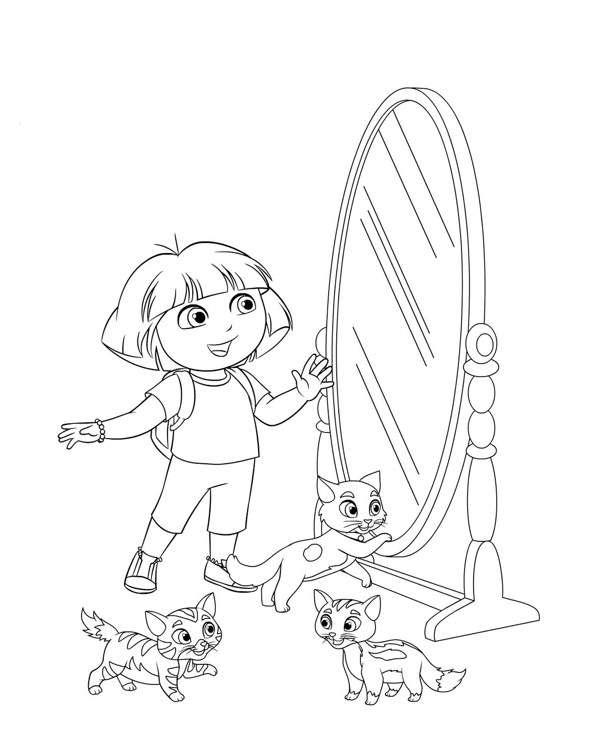 Mirror coloring pages to download