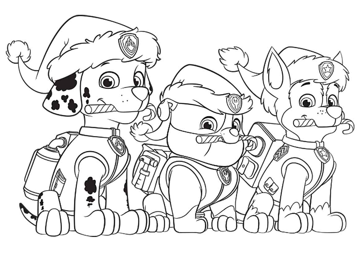 Coloring pages of chase from paw patrol - Paw Patrol Coloring Pages Chase Printable