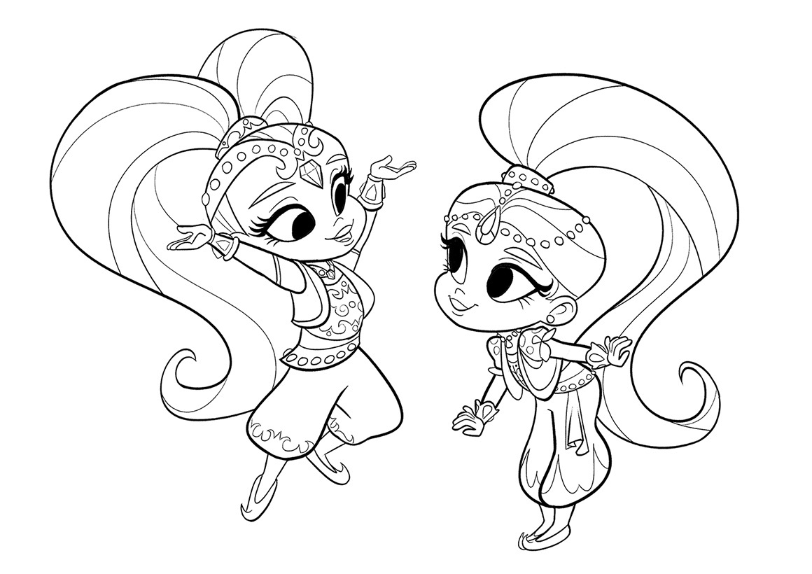 Shimmer and Shine coloring pages to download and print for free