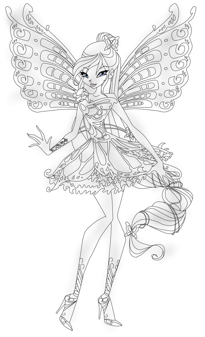 Winx butterflix coloring pages to download and print for free for Winx club bloom coloring pages