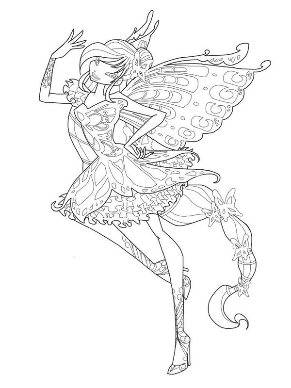winx club tynix coloring pages - photo#25