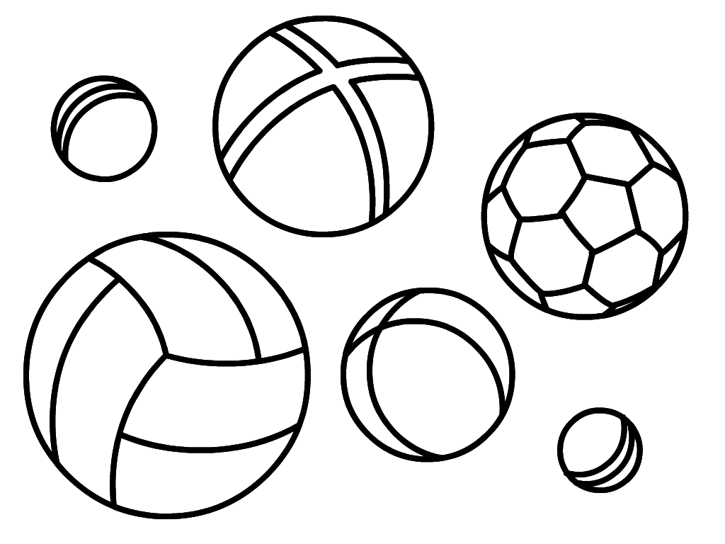 Ball Coloring Pages For Kids To Print For Free Free Balls Coloring Pages