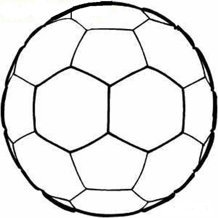 Раскраски мячей для детей - 9