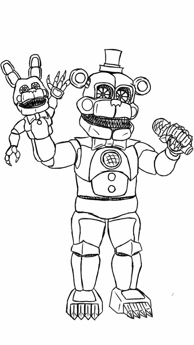 fnaf 3 phantom animatronics coloring pages | Animatronics coloring pages to download and print for free