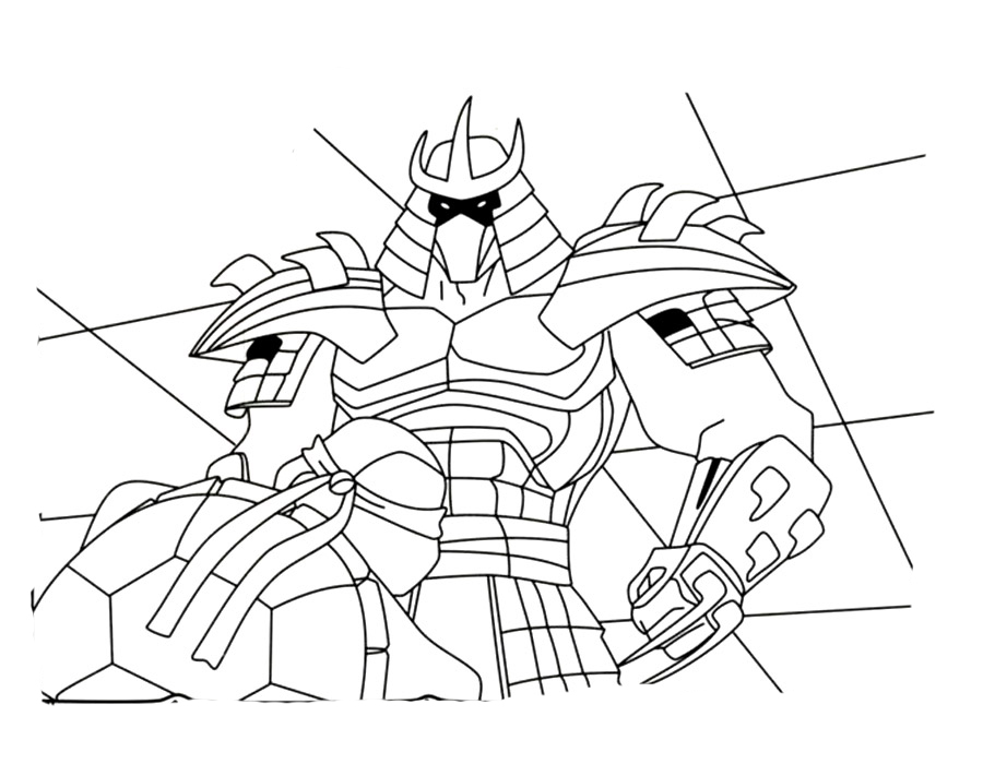 Shredder coloring pages to download