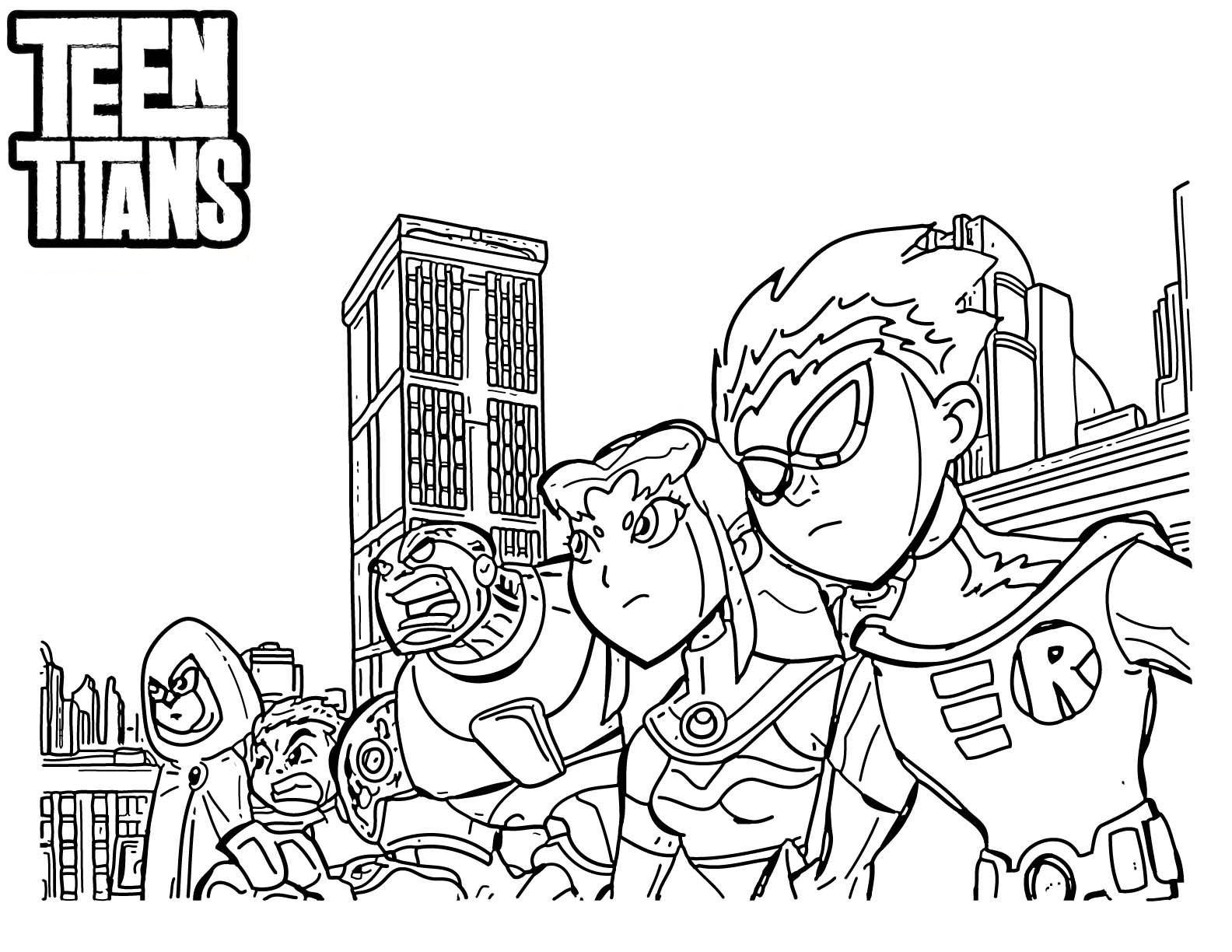 Teen Titans Go Coloring Pages to