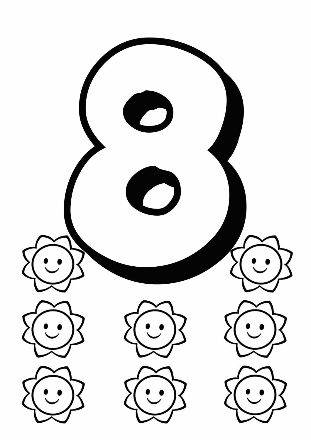 Numbers Coloring Pages for kids