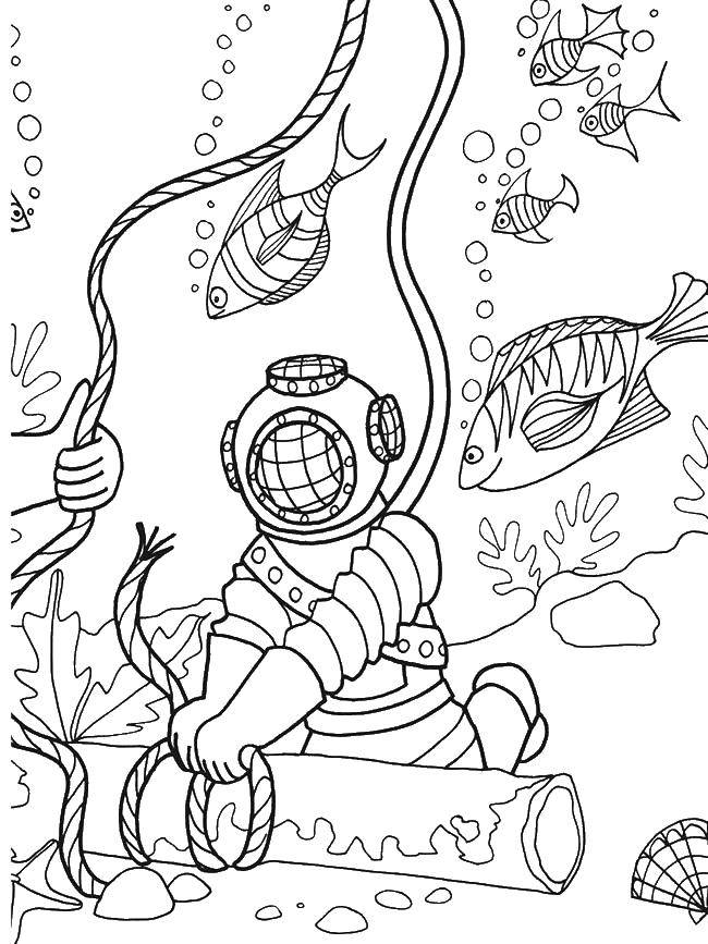 Seabed coloring pages to download