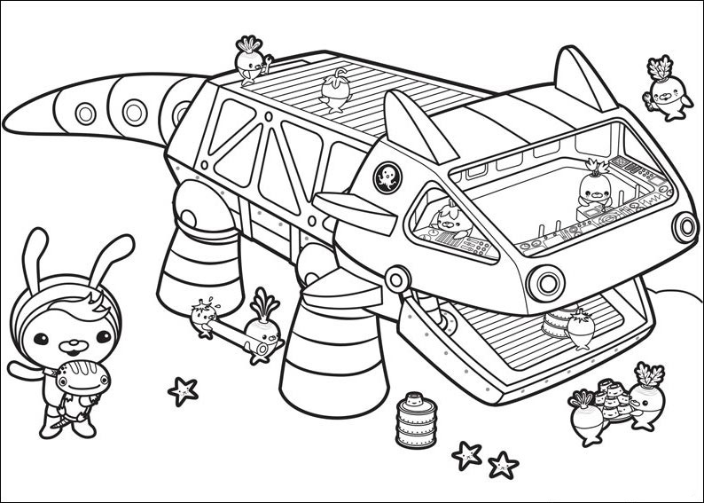 octonauts coloring pages page dinokids