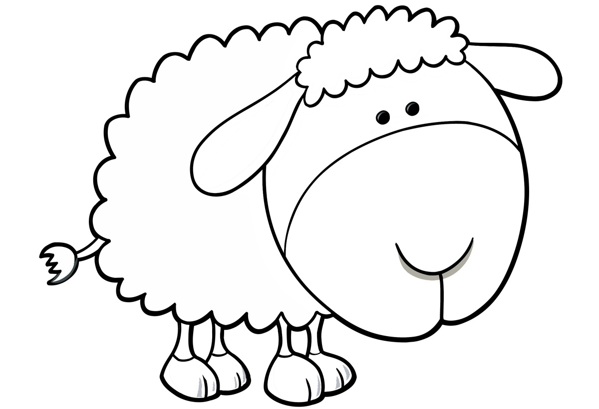 sheep coloring pages to print, year of sheep 2015