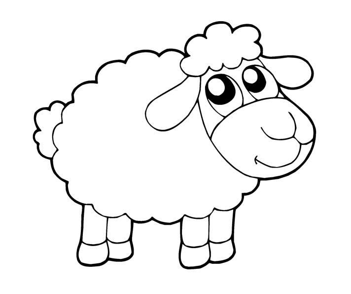 Раскраска на новый год овечки