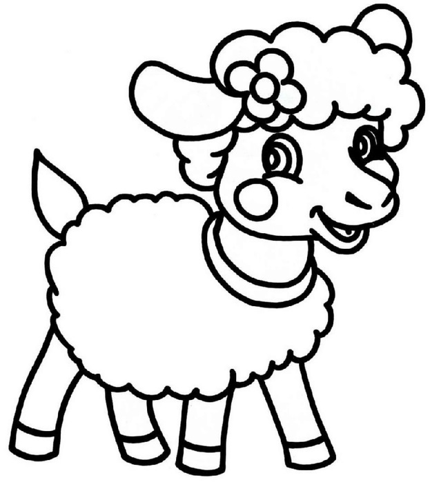 Kleurplaat Jungle Peuter Sheep Coloring Pages To Print Year Of Sheep 2015