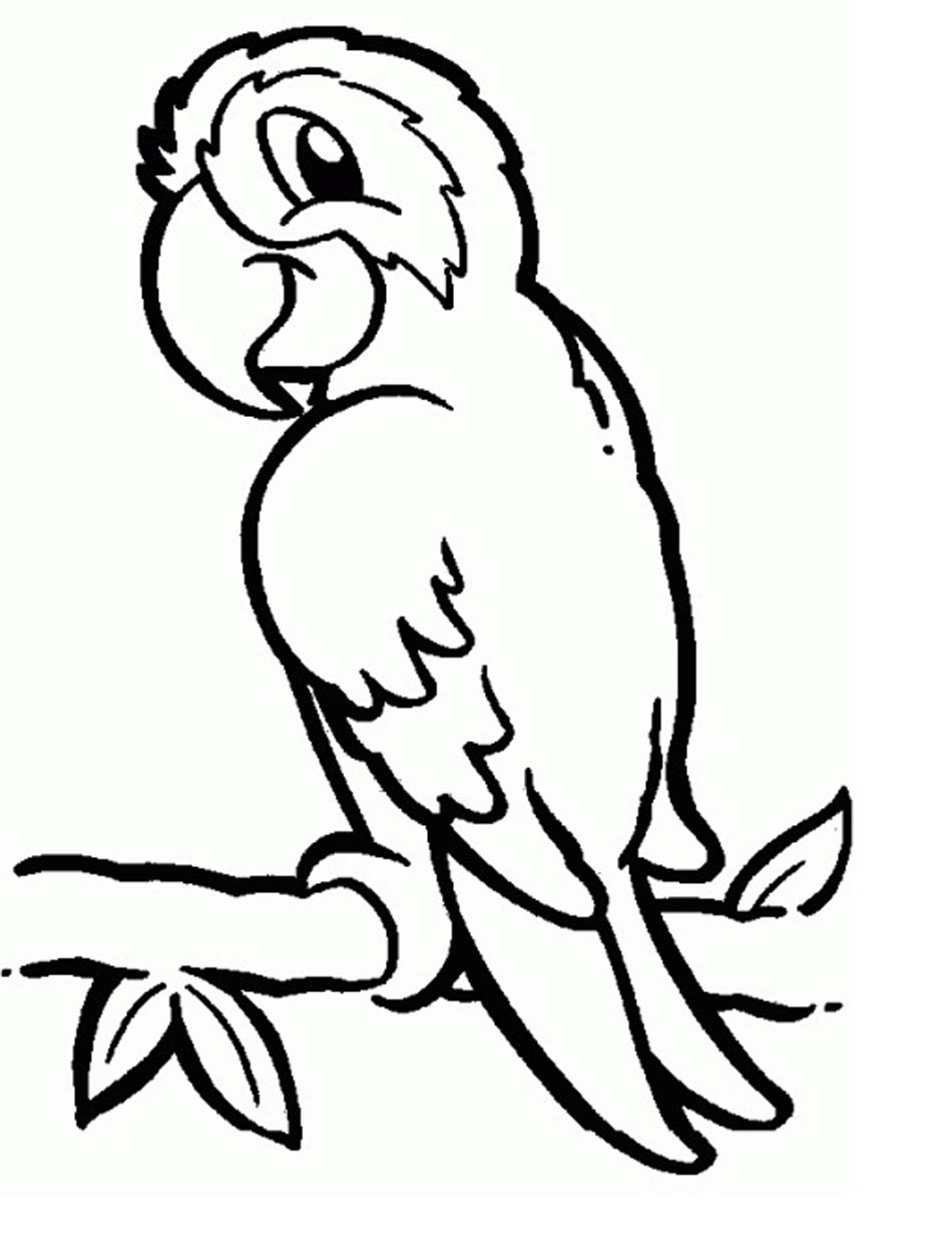 parrots coloring pages to download and print for free. Black Bedroom Furniture Sets. Home Design Ideas
