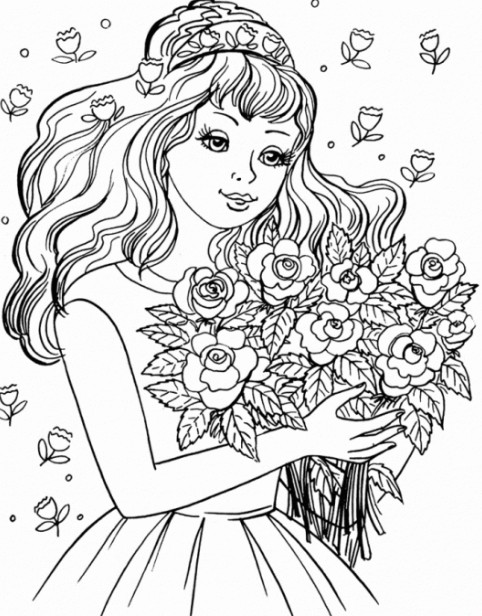 Coloring pages for 10 year old girls ~ Ladies Coloring Pages to download and print for free
