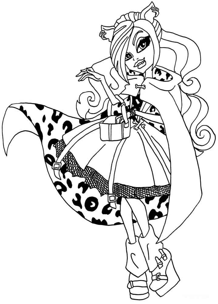 Print Monster High coloring pages