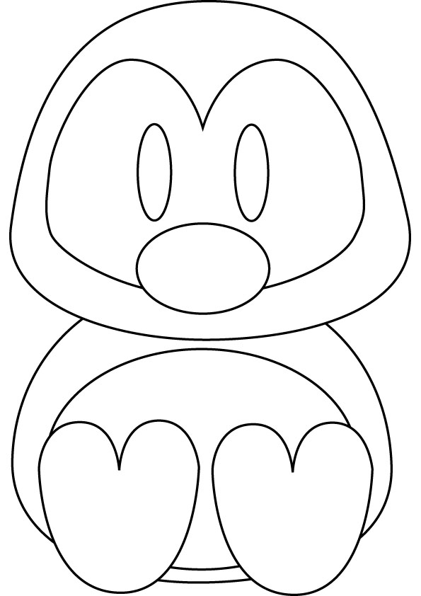 Penguins coloring pages to download