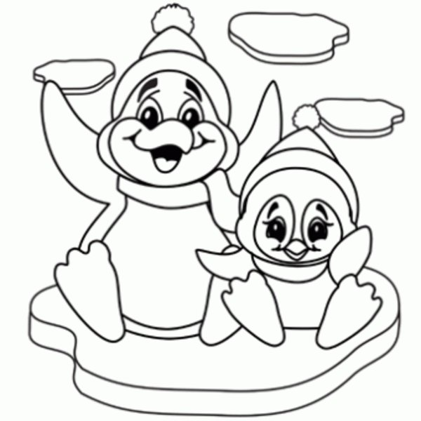 penguins coloring pages printable - photo#4