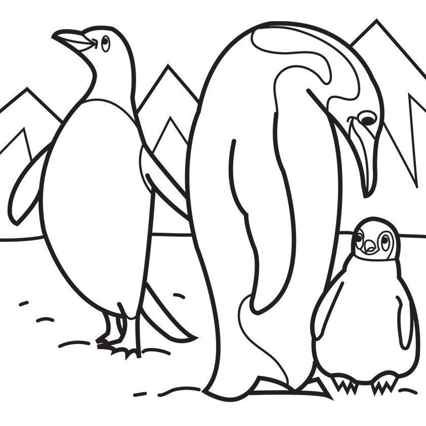 Penguins coloring pages to download and print for free for Free coloring pages of penguins