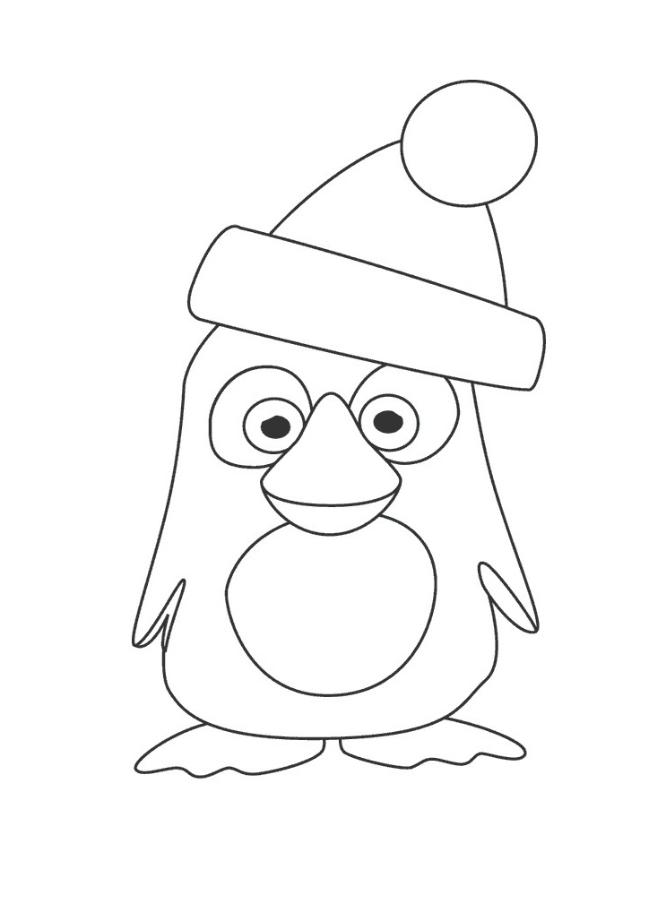 Penguins coloring pages to download and print for free
