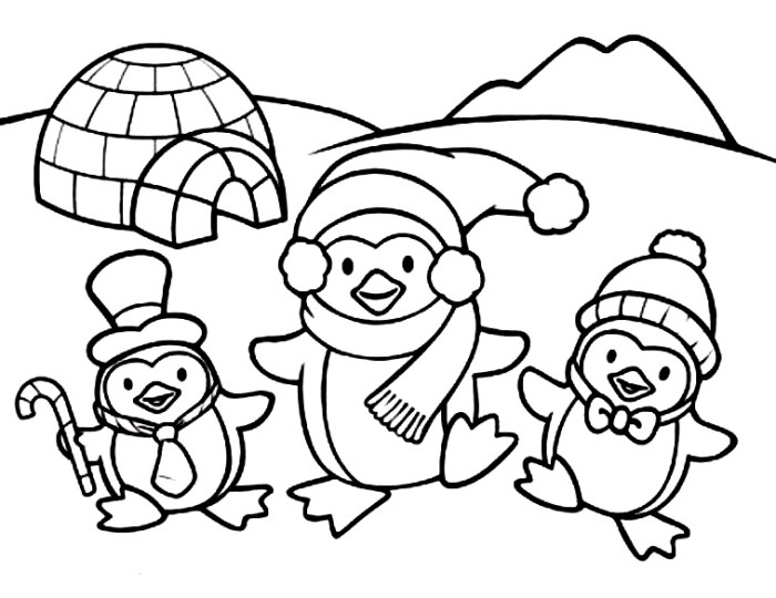 penguins coloring pages printable - photo#8