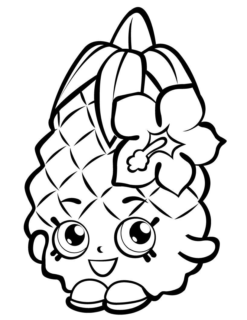 Pineapple coloring pages to download