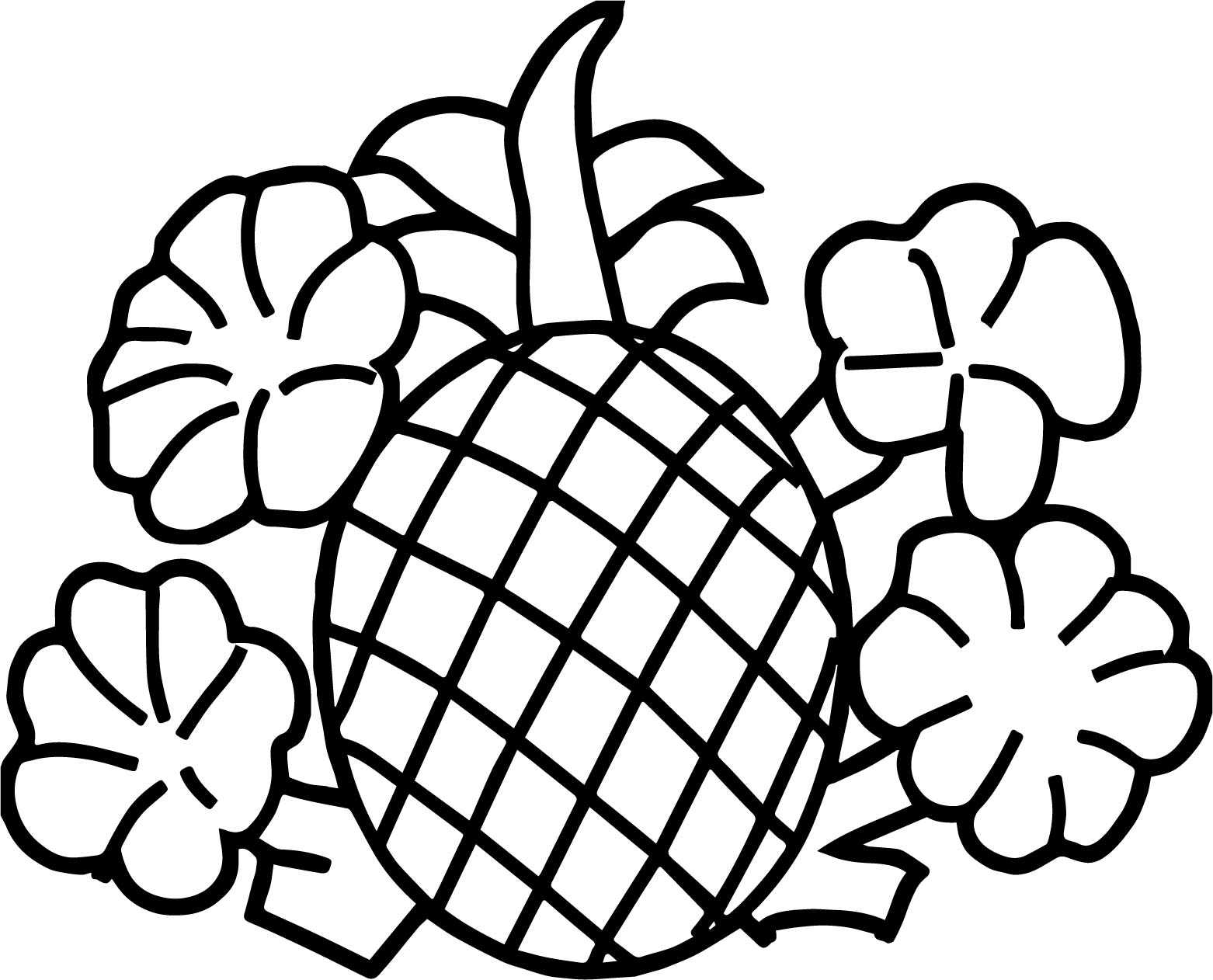 Sao Para Colorear: Pineapple Coloring Pages To Download And Print For Free