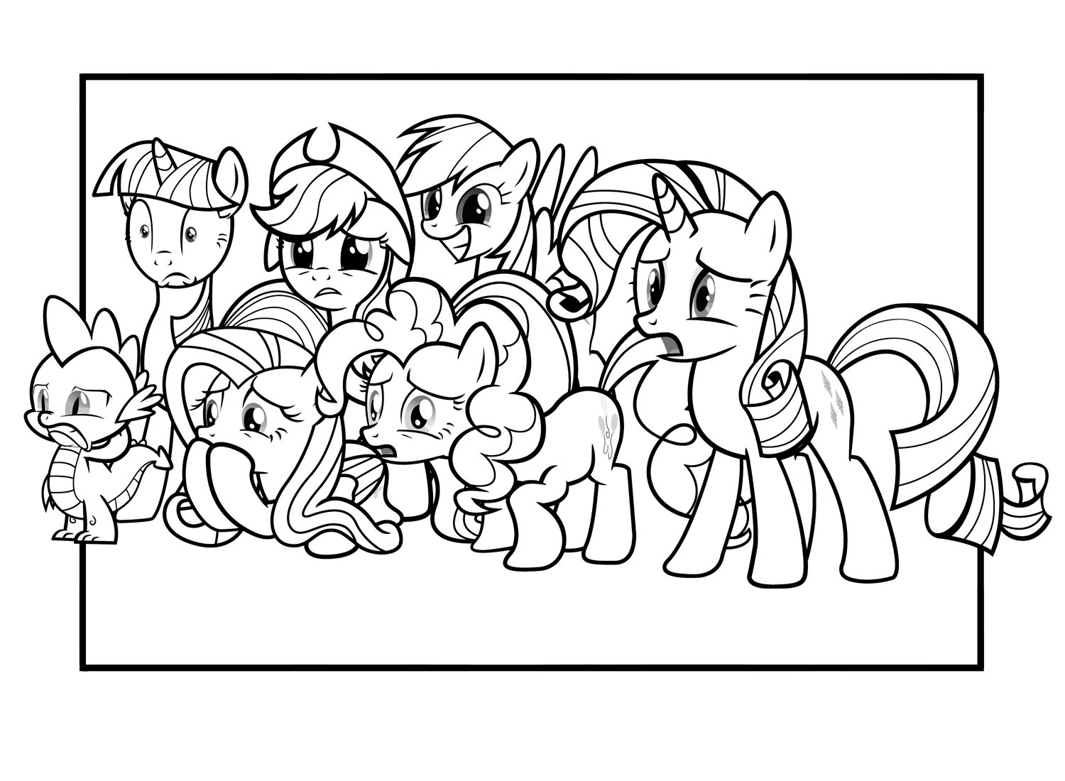 Pinkie Pie pony coloring pages