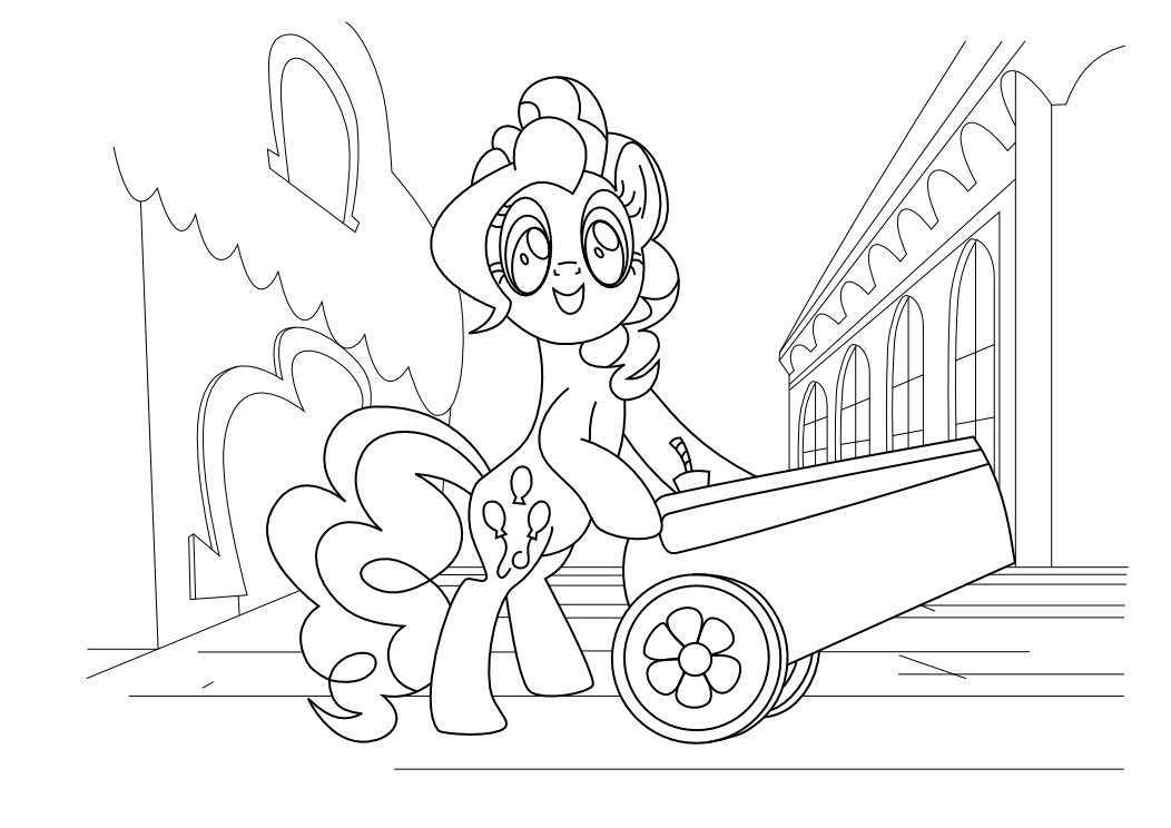 Pinkie Pie Pony Coloring Pages For Girls To Print For Free