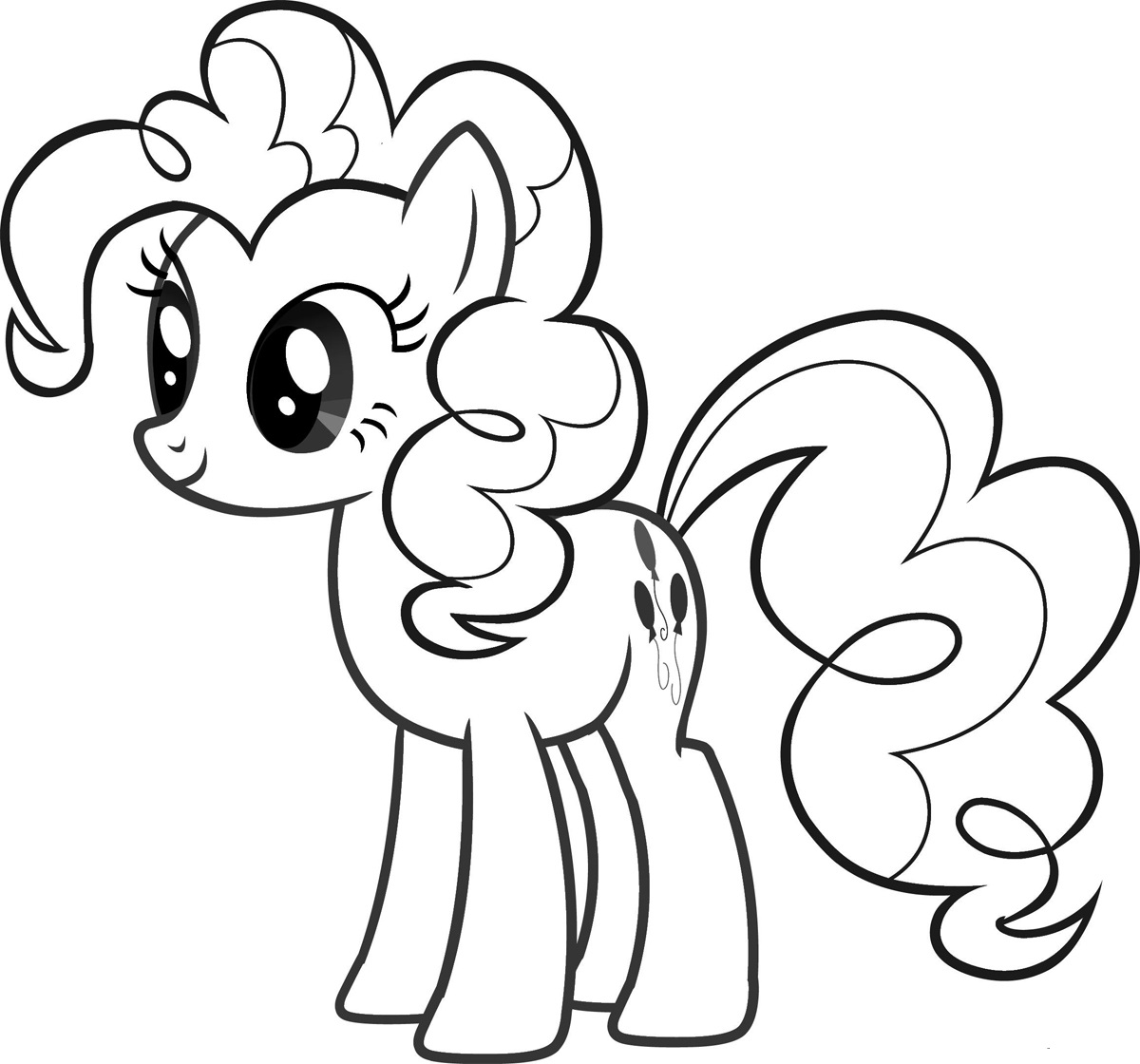 pie coloring page - pinkie pie pony coloring pages for girls to print for free