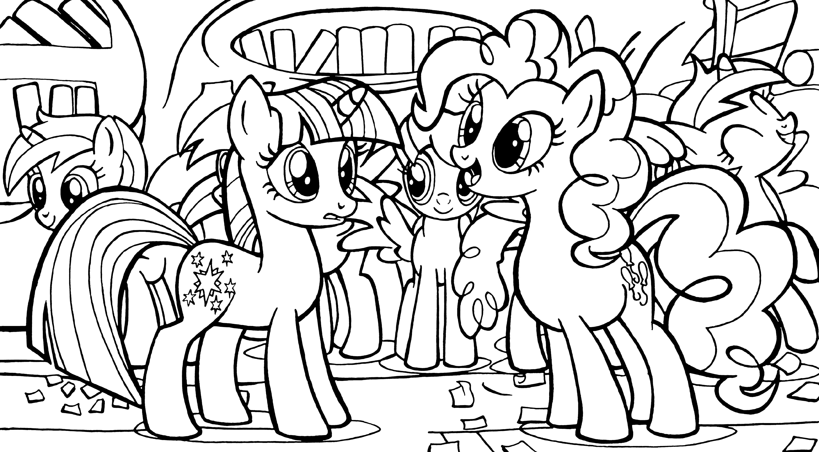 Kleurplaat Fluttershy Equestria Pinkie Pie Pony Coloring Pages For Girls To Print For Free