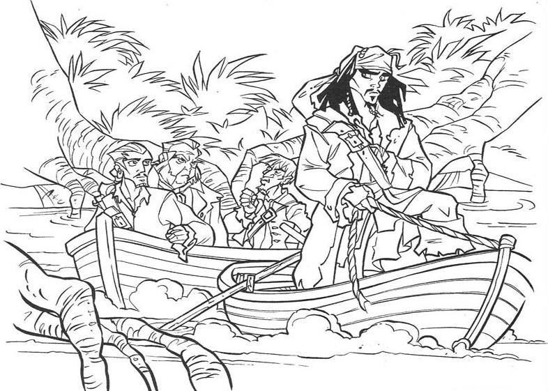 Раскраска пираты карибского моря 109