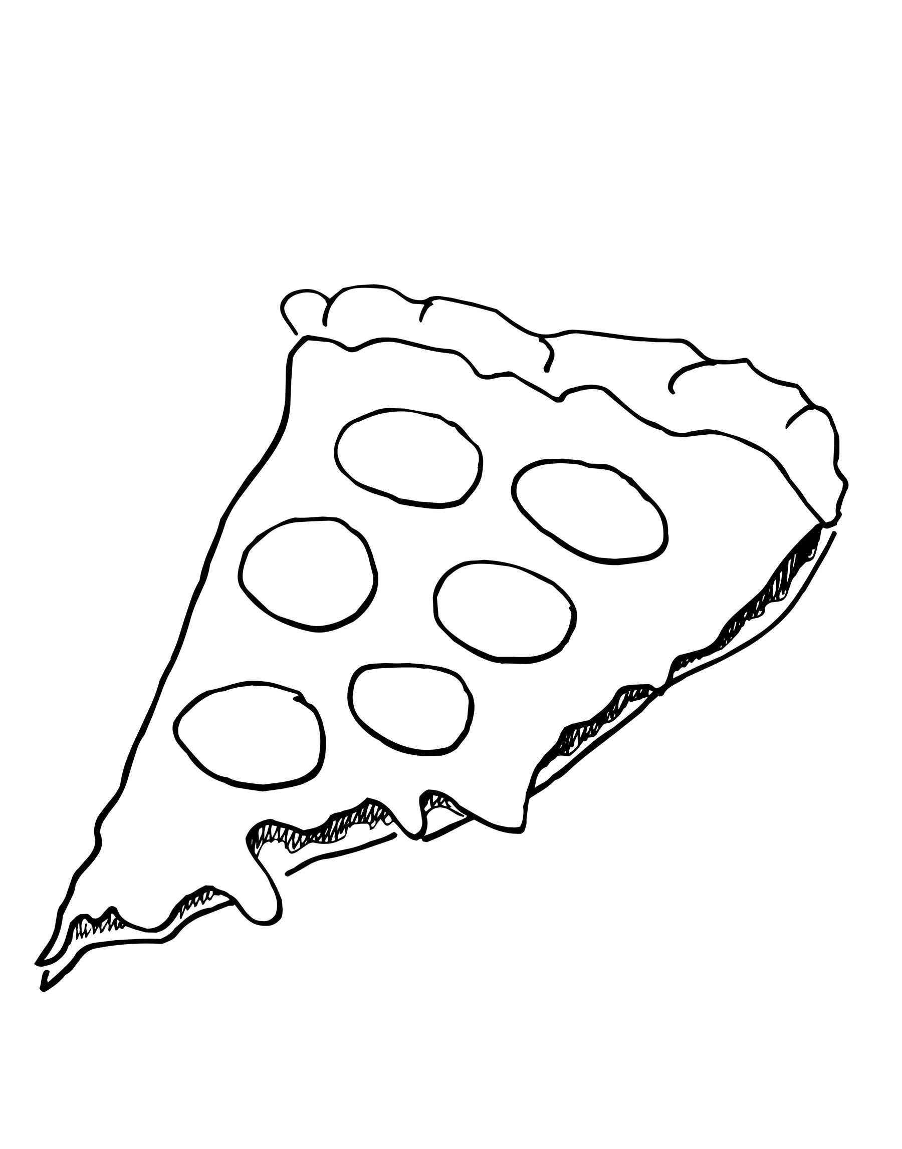 Is For Pizza Coloring Sheet : Pizza Coloring Pages for childrens printable for free