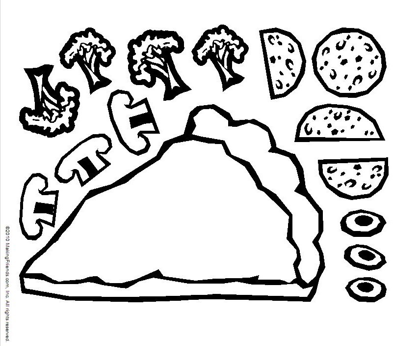 Pizza Coloring Pages For Childrens Printable For Free - pizza coloring page printable