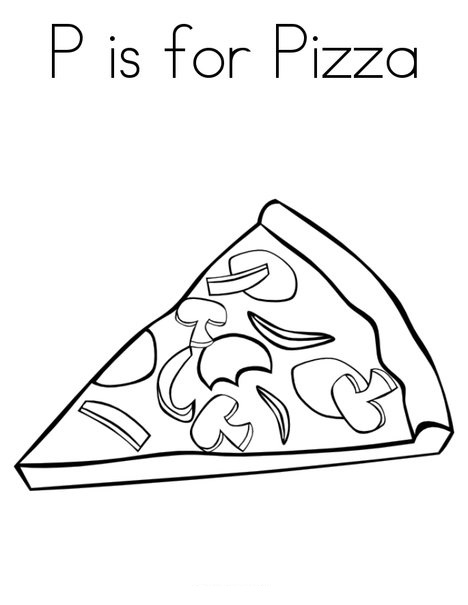 pizza coloring pages for preschool - photo#5