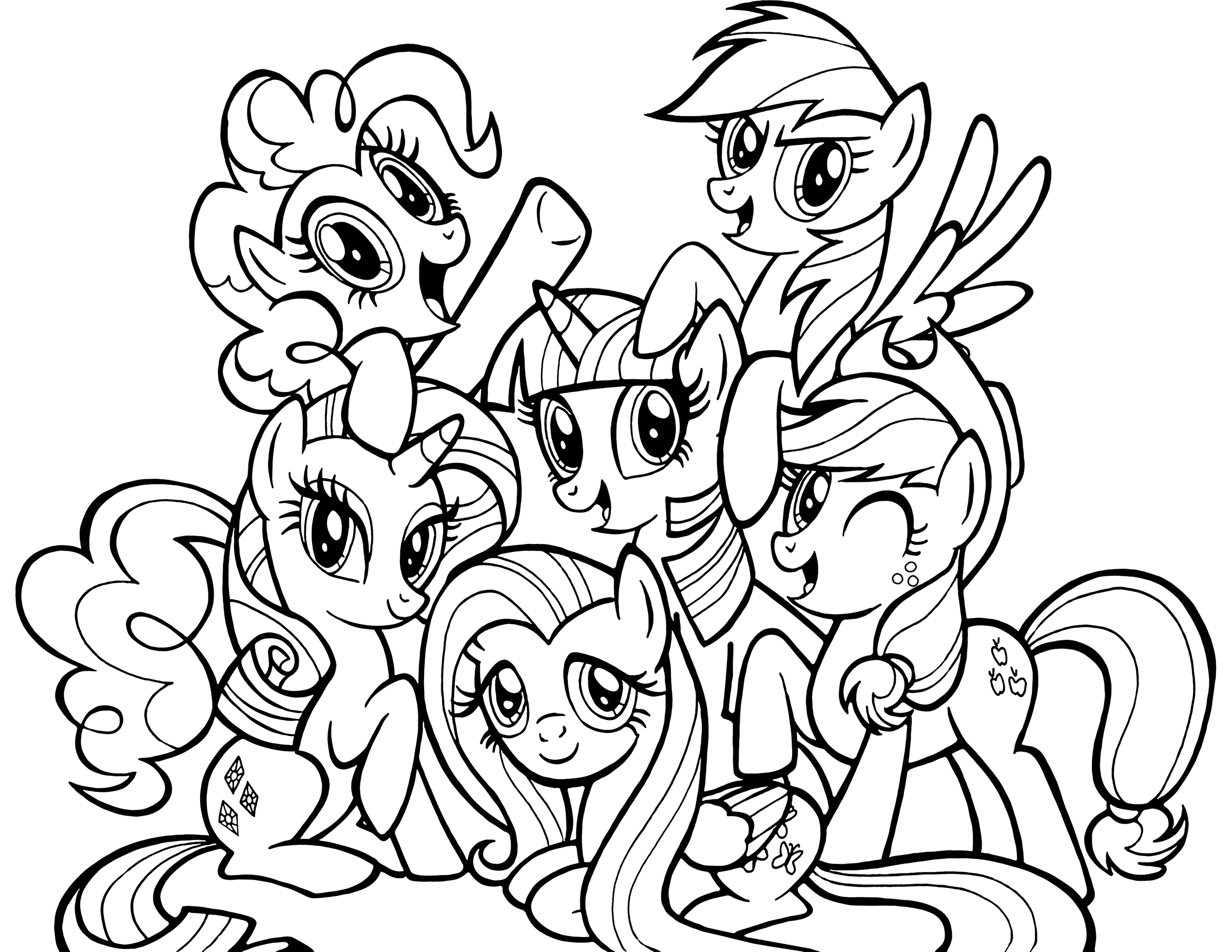Ponies from Ponyville coloring pages, free printable ...