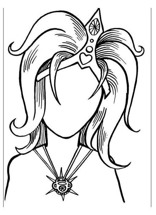 Mother portrait coloring pages
