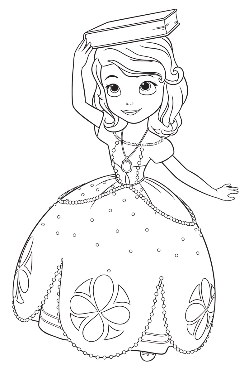 Princess sophia printable coloring pages - Sofia The First Coloring Pages