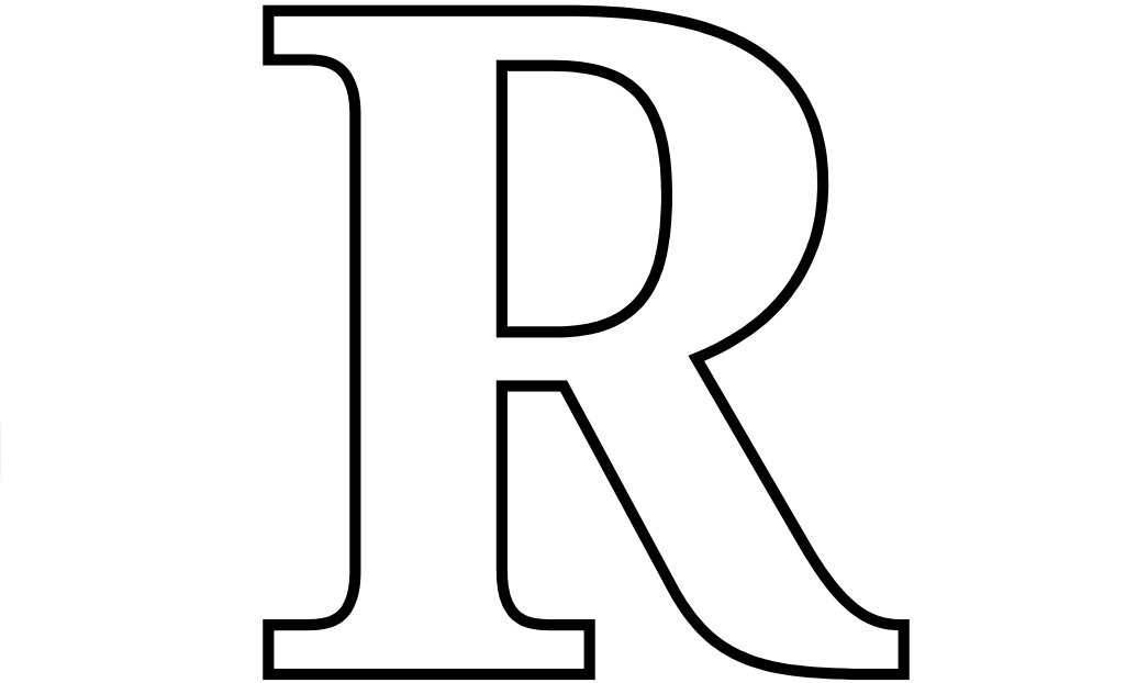 Letter R coloring pages to download and print for free