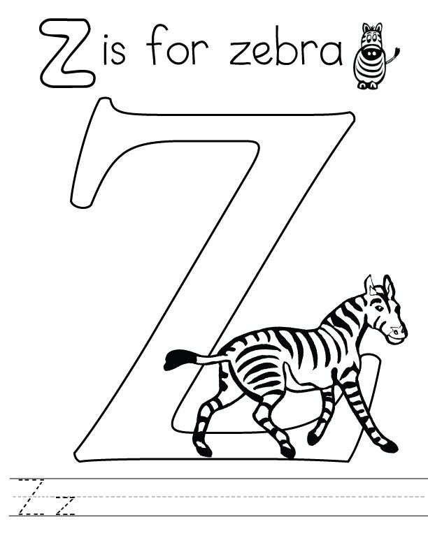 letter z coloring pages to download and print for free. Black Bedroom Furniture Sets. Home Design Ideas