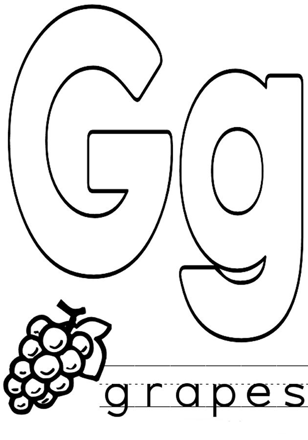 Letter G coloring pages to download