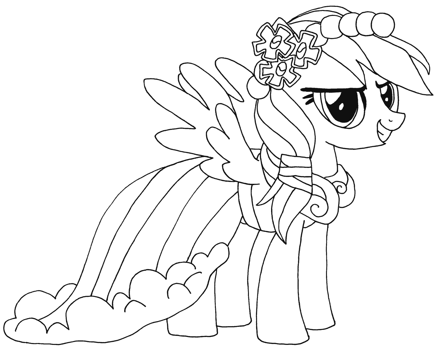 rainbow dash coloring pages to download and print for free