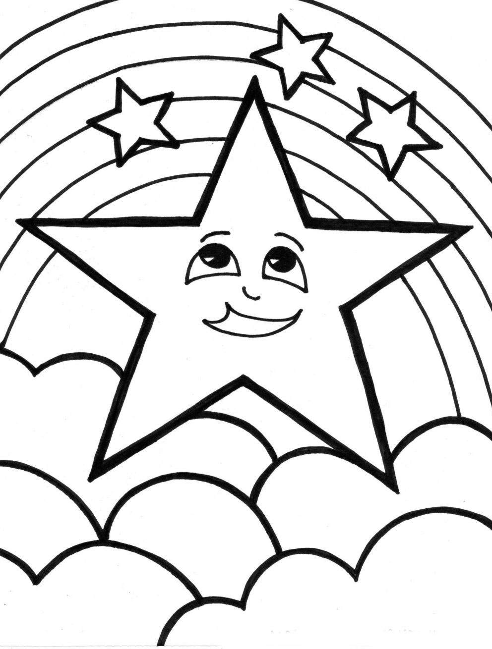 coloring page rainbow rainbow coloring pages for childrens printable for free