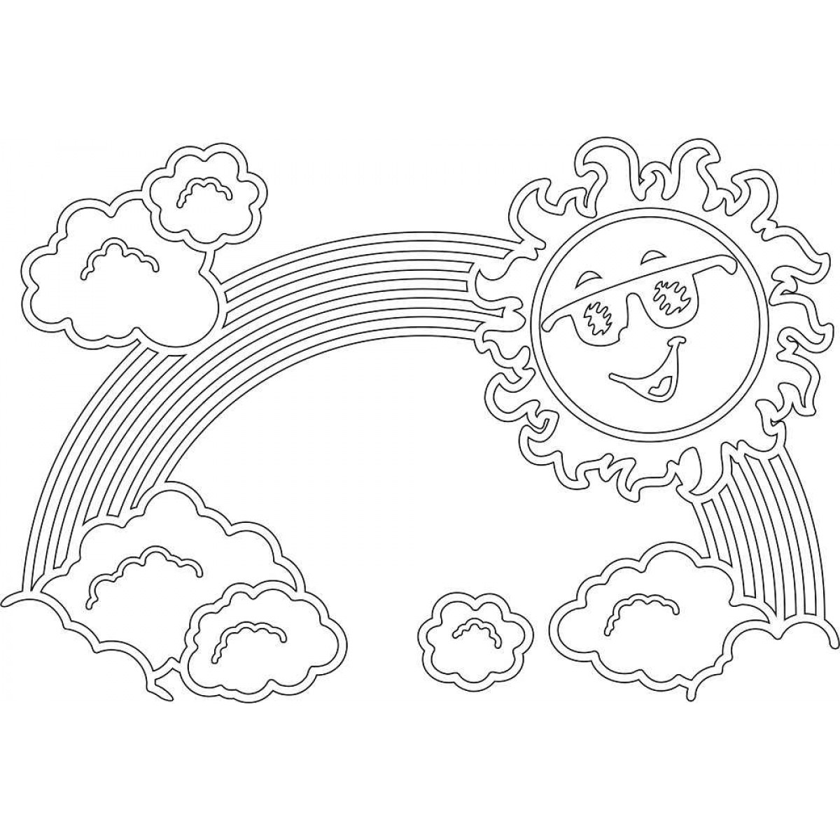 Rainbow Coloring Pages for childrens